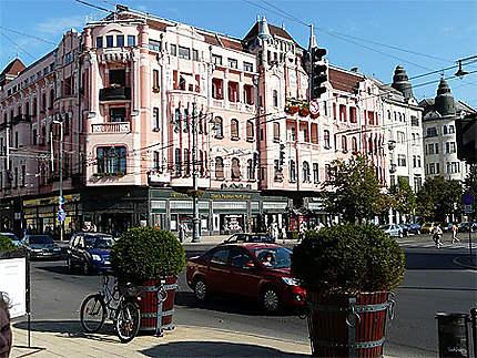 Debrecen Bâtiment rose