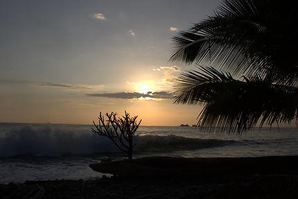 Coucher de soleil sur le Pacifique sud