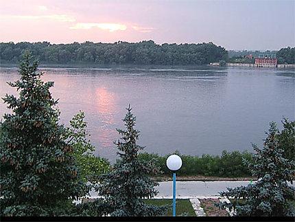 Coucher de soleil sur le Danube
