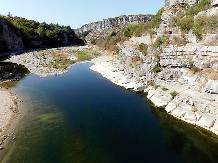 L'Ardèche vue de Balazuc