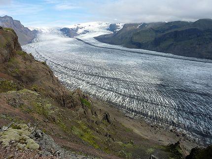 Langues glaciaires dans le Skaftafell