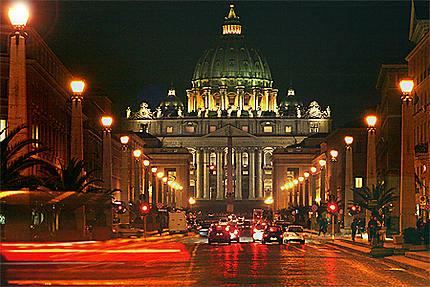 Saint-Pierre de Rome la nuit