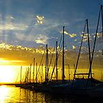 Coucher de soleil sur le port de plaisance