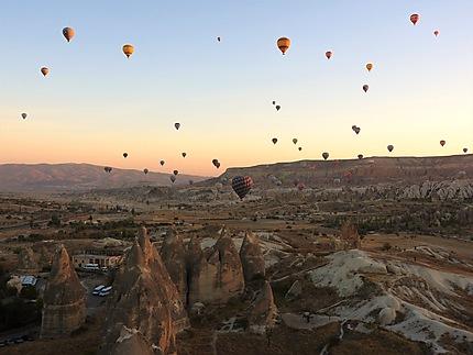 Lever de soleil sur la Cappadoce