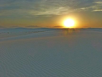 Immensité de sable blanc