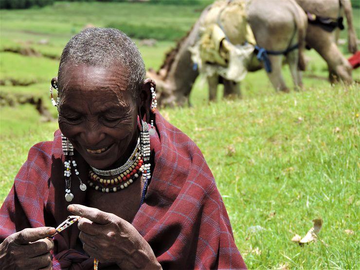 Portrait maasaï, Tanzanie, par Ameyo