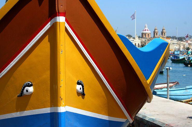 Luzzu à Marsaxlokk, Malte