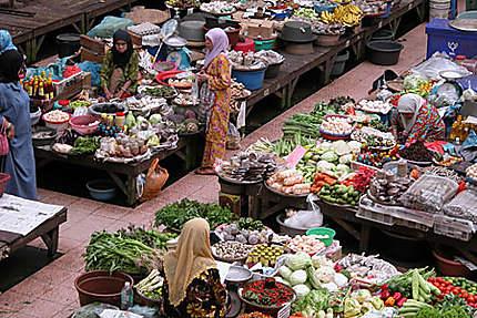 Le marché coloré de Kota Bahru