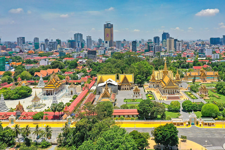 The Royal Palace serves as the home for the king of Cambodia