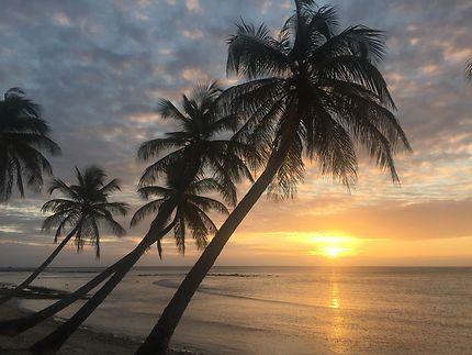 Coucher de soleil à l'île Moustique