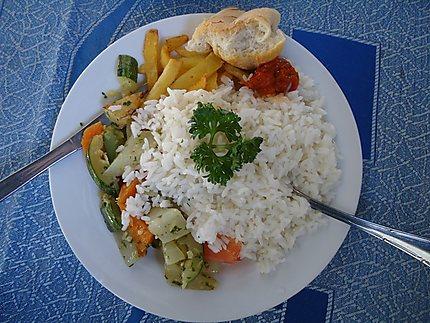 Plat végétarien à Grand-Bassam