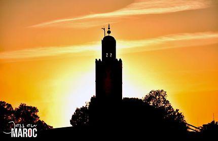 La Koutoubia au coucher du soleil