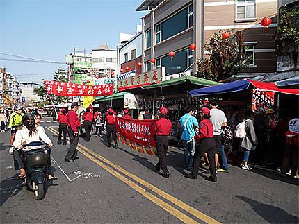 La rue principale de l'île de Cijin