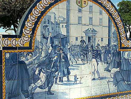 A Olhao en Algarve les bancs racontent les révoltes de la population