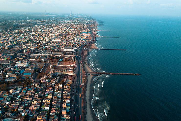 Mylapore, Madras, Chennai : du petit port à la moderne conurbation