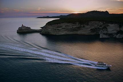 Retour au port en fin de journée, Bonifacio