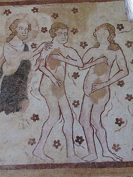 Fresques de l'église: Adam et Eve