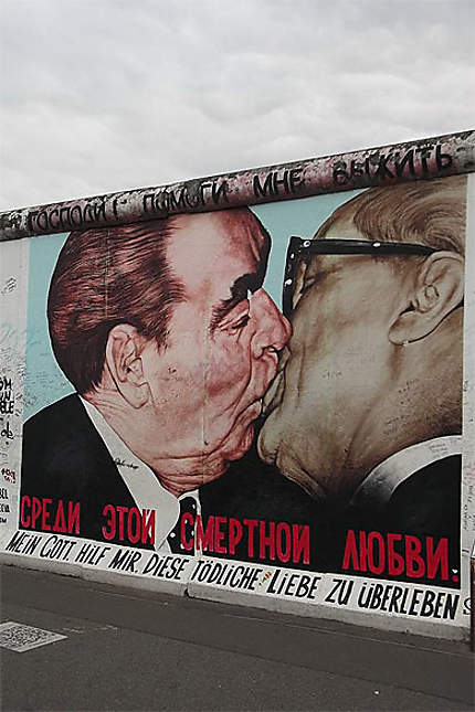 Baiser entre Leonid Brejnev & Erich Honecker