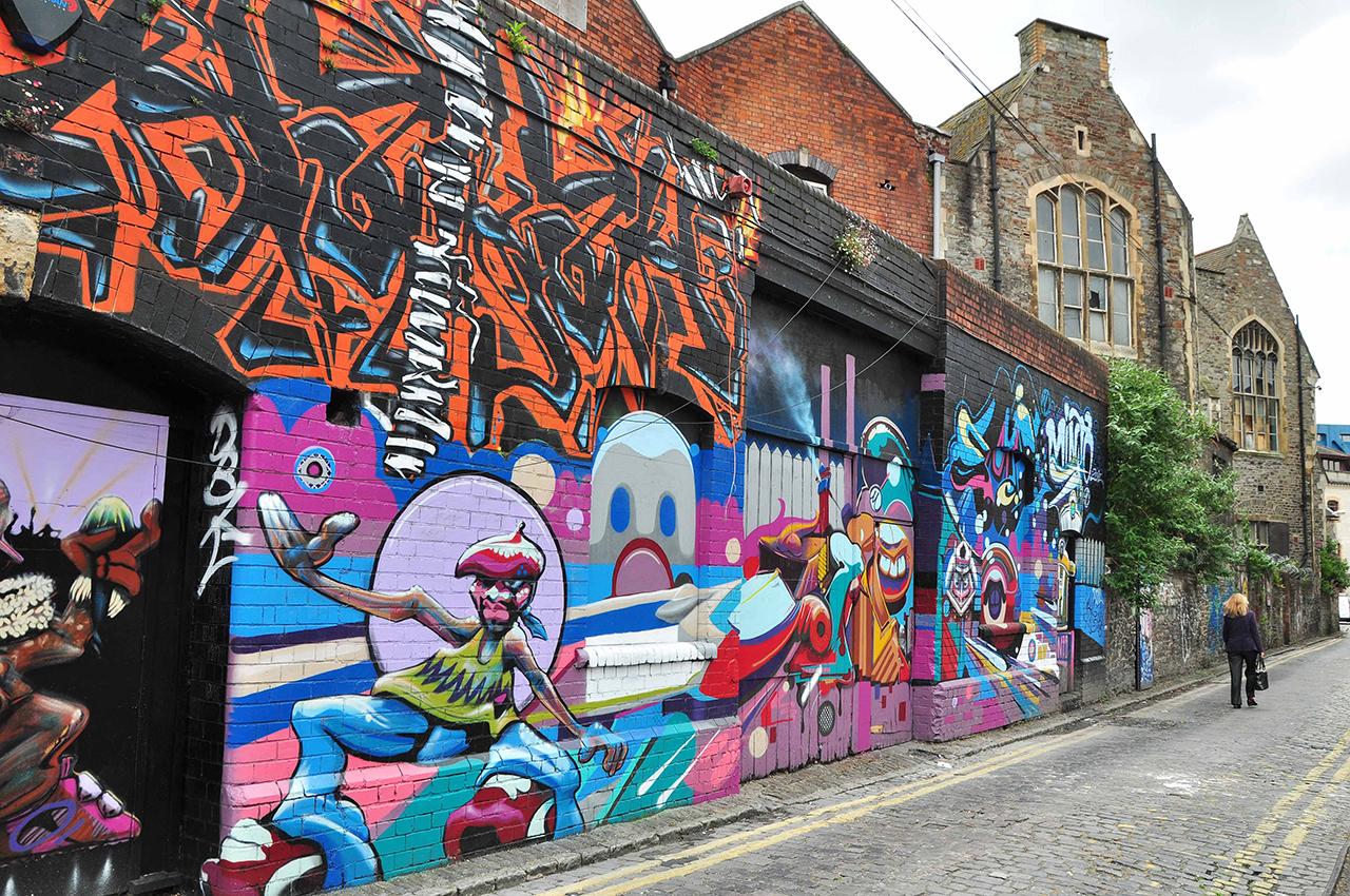 bristol capitale du street art id es week end angleterre. Black Bedroom Furniture Sets. Home Design Ideas