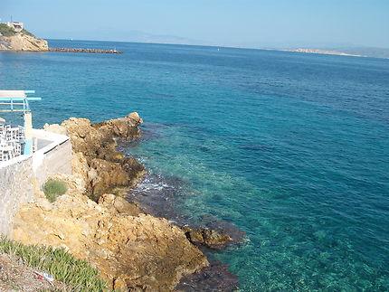 Île d'Égine, Côte Est