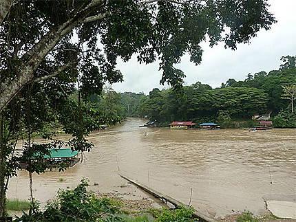 La rivière Tembeling à Kuala Tahan