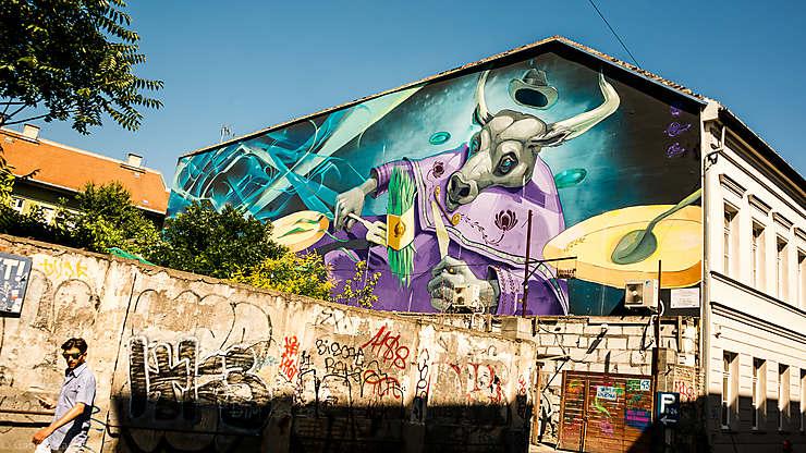 Street art dans le quartier Szimpla Kert