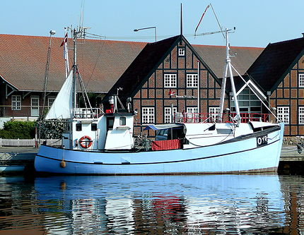 Bateau au port de Kolding