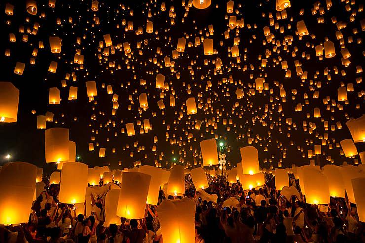 Loy Krathong, festival des lanternes en Thaïlande