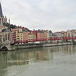 La Saône et l'église Saint Paul