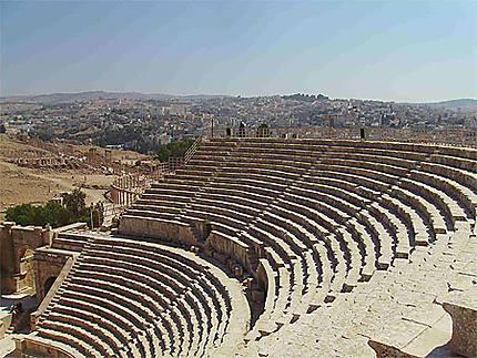 Les gradins du théatre de Jerash