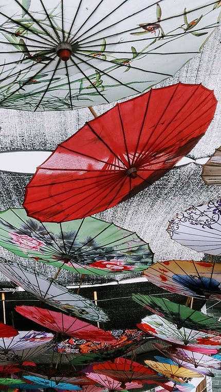 Magnifiques parapluies de Xingpingzhen