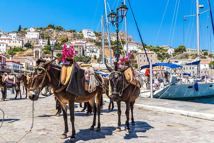 Le Péloponnèse et les îles Saroniques, à la fin de l'été