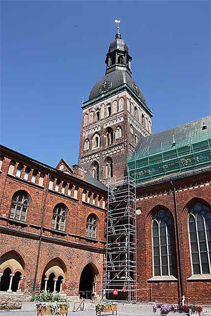 Cathédrale de Riga vue du Cloître