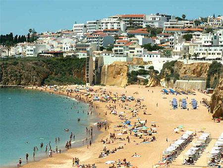plage d 39 albufeira portugal plages mer praia da fal sia albufeira algarve portugal. Black Bedroom Furniture Sets. Home Design Ideas