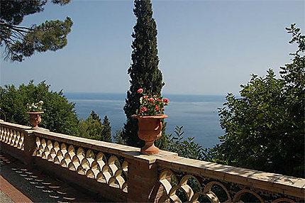 Vue du parc de Taormina