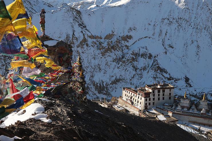 Monastère de Lamayuru en hiver, Inde