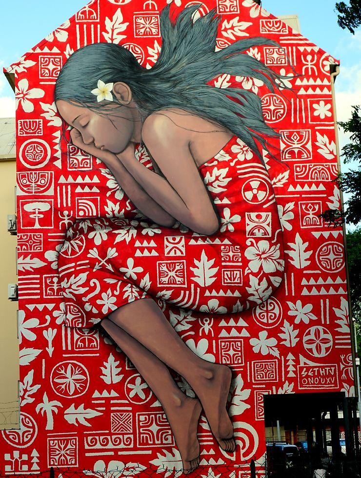 Street art à Papeete, Polynésie Française