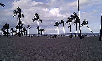 La plage de Fort Lauderdale au soleil couchant