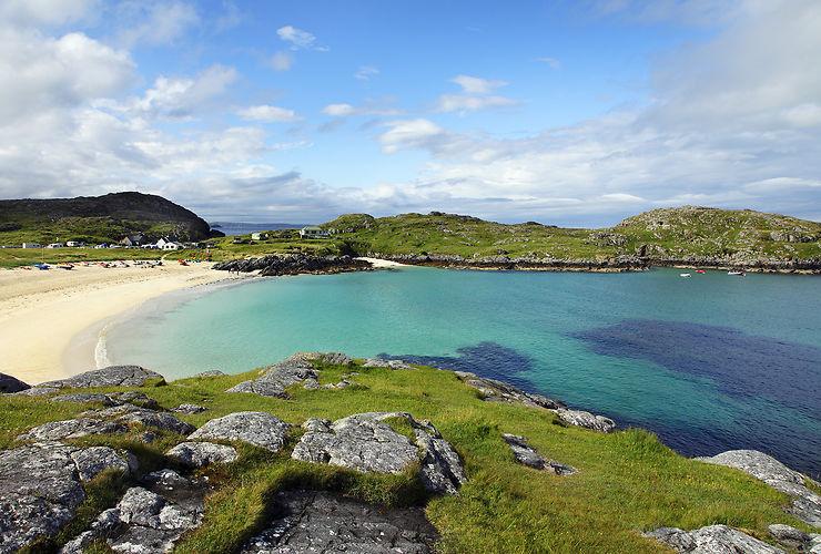 Les Highlands à la plage, au nord de l'Écosse