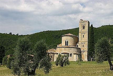 Toscane, l'abbaye de Sant Antimo