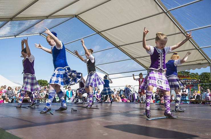 Highland Games dans les Highlands