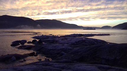 Coucher de soleil à la pointe de l'Islet