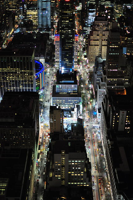 Vue depuis l'Empire State Building by night
