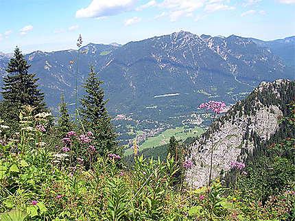 Vue sur Garmisch Partenkirchen