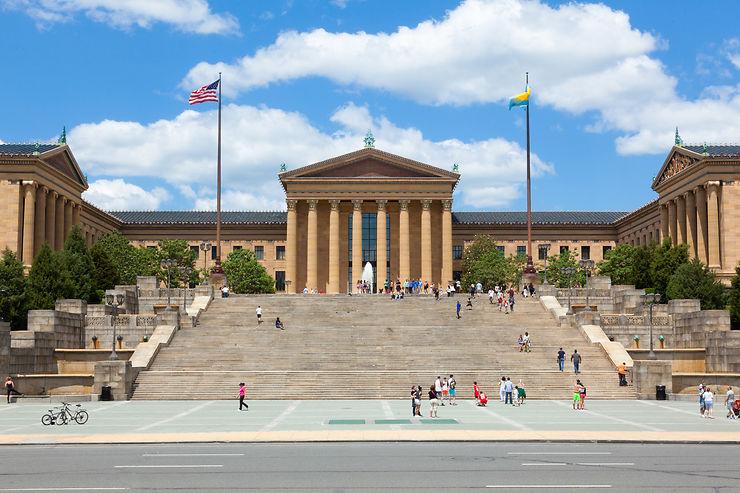 Les marches du Philadelphia Museum of Art à Philadelphie : Rocky