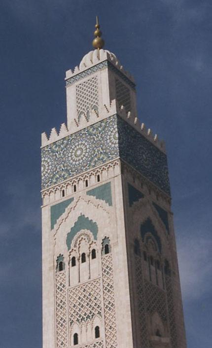 Minaret de la grande mosquée Hassan II
