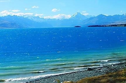 Mt. Cook et le lac Pukaki