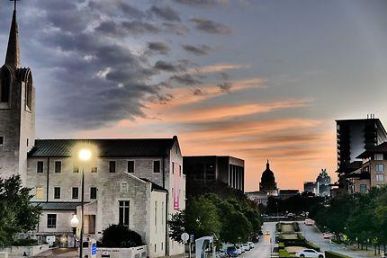 Crépuscule sur Austin Texas