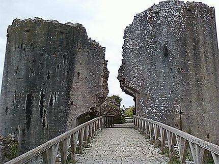 Porte d'entrée du Château de Corfe