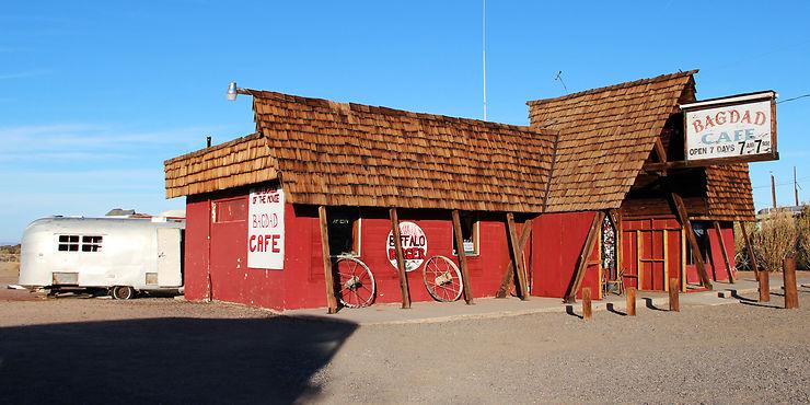 Le vrai Bagdad Café à Newberry Springs en Californie : Bagdad Café
